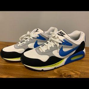 Mens Nike Air WHITE BLUE NEON YELLOW EUC